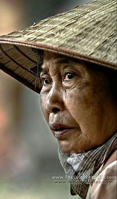 Un rostro de mujer oriental.