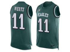 ea7e1581151 Nike Eagles #11 Carson Wentz Midnight Green Team Color Men Stitched NFL  Tank Top Carson