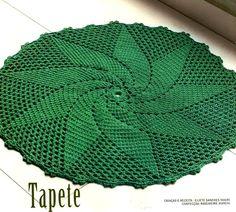 Crochet: Green rug ❤️LCR-MRS❤️ with diagram.