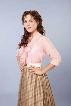 Picture: Erin Krakow in 'When Calls the Heart.' Pic is in a photo gallery for Erin Krakow featuring 28 pictures. Elizabeth Thatcher, Jack And Elizabeth, Erin Elizabeth, Old Timers Day, Janette Oke, Daniel Lissing, Erin Krakow, Celebrities Before And After, Summer Romance