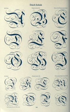 Dutch Initials from American specimen book of type styles on openlibrary.org