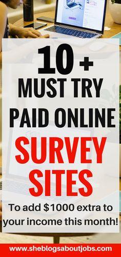 43 Best Paid Survey Sites That Pay Cash in 2017