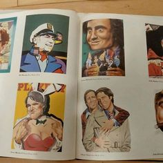 In this picture you have (from top left to bottom right) -Woody Allen by Kathy Stacio Short 1980 - Mel Brooks by Don Weller 1976 ♡ -Lorne Michaels by David McMacken 1978 -Gila Rader by William Riser 1978 -Martin Mull by Brian Zick 1979 -Steve Martin by William Riser 1978 ♡ -Chevy Chase by Stan Watts 1979 ♡ John Blush by McMacken ♡  Thank you Paper Moon Graphics