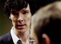 """Sherlock & John. """" JOHN!....."""" gif"""