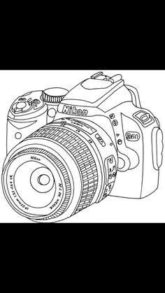 Nikon camera drawing