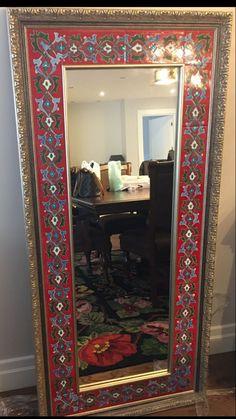 Islamic Tiles, Islamic Art, Mirror Mosaic, Stoneware, Oversized Mirror, Pottery, Ceramics, Interior, Painting