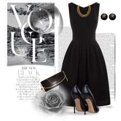 Black Dress by oribeauty-cosmeticos on Polyvore featuring moda, Gucci and Chanel