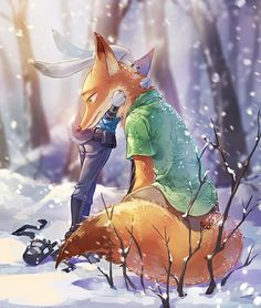 The name's Nick Wilde. I work alongside my partner Judy Hopps in Zootopia. __________________________________ This is a fan account involving the Disney movie Zootopia. Disney Pixar, Arte Disney, Disney Fan Art, Disney And Dreamworks, Disney Movies, Zootopia Anime, Zootopia Comic, Nick Wilde, Cartoon Movies