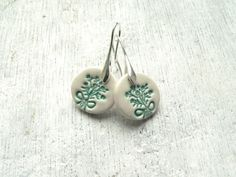 Ceramic earrings ceramic earring everyday jewelry by islaclay, £10.00