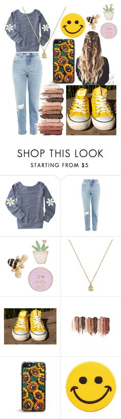 """Casual Hufflepuff"" by nerdyintrovert ❤ liked on Polyvore featuring Topshop, LC Lauren Conrad, Gucci, tarte and Hollywood Mirror"