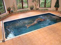 Endless Pools can fit virtually anywhere. Swim at home, indoors or outside!