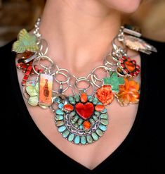 Coreen Cordova Western Heart Necklace from Smith And Western