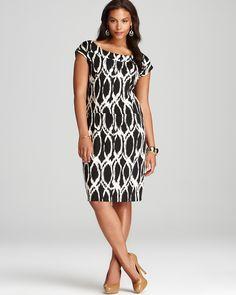 Melissa Masse Plus Short Sleeve Sheath Dress - New Arrivals - Plus Sizes - Plus Sizes - Bloomingdale's