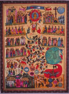 Items similar to Last Judgement Icon painting. Hand-made icon. Easter gift on Etsy Religious Icons, Religious Art, Ancient Art, Ancient Egypt, Faith Of Our Fathers, Alchemy Art, Byzantine Icons, Catholic Art, Art Icon