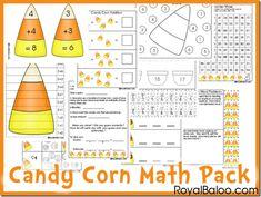 Free Candy Corn Math Pack K-2nd