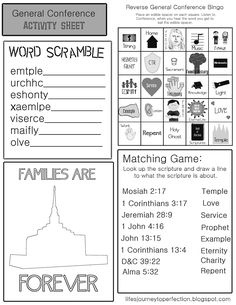 LDS General Conference Preparation and PrintablesThe prophet speaks to us at general conference.Family Home Evening on Applying the Messages and Directions of the Prophet into our livesFamily Home Evening on Preparing To Get the Most Out of General ConferenceGeneral Conference Printable for Primary