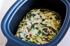 Slow Cooker Frittata with Kale, Roasted Red Pepper, and Feta [from ...