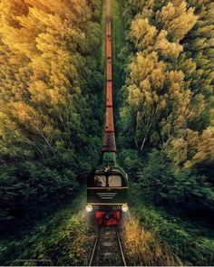 Train Photos Show the Vessels Roaring Through Picturesque Landscapes Photo credit: Mantas Kristijonas Kuliešis