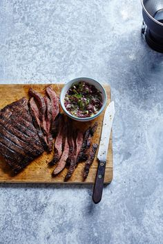 Dave Matthew's Flank Steak with Olive Tapenade