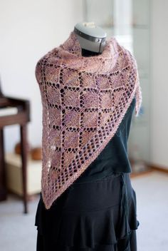 The BLT (Basic Lace Triangle) scarf& is designed for a beginner with the option of beading. It uses a simple repeating pattern and is great for learning how to use a chart. There are no difficult stitches used. The pattern is fully written and charted. Knitting Charts, Lace Knitting, Knitting Patterns Free, Free Pattern, Knitting Machine, Shawl Patterns, Lace Patterns, Knitted Poncho, Knitted Shawls