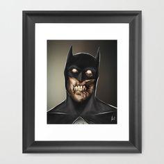 Zombie Batman  Framed Art Print by Andre De Freitas -