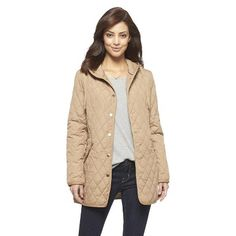 75d6acbda8 Women s Hooded Quilted Jacket Beige - Coffee Shop Quilted Jacket