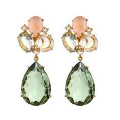 Statement Earrings By Bounkit Pinwheel Jewels Bridestory Pinwheels Stone Jewelry