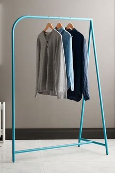 Blue Garment Rack