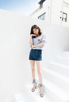 Suzy for Guess Super Fit 2018 Summer Fashion Idol, Girl Fashion, Miss A Suzy, Pretty Korean Girls, Bae Suzy, Korean Actresses, Korean Actors, Korean Celebrities, Korean Model