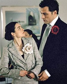 """Katherine & Petruchio in a Modern Retelling of """"The Taming of the Shrew"""" with Shirley Henderson and Rufus Sewell. 2005 BBC"""