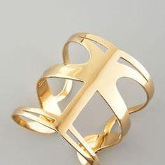 """infinite love cuff"" in yellow gold by Simone Smith! #BTFF"