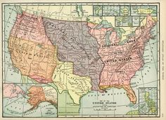 Acquisition Map of United States ~ Free Graphic