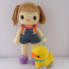 Miki and 4-wheel duck - amigurumi pattern by Berriiiz