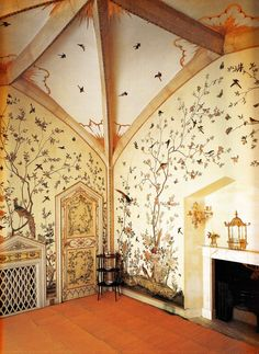 inspiration for a beautiful nursery room! Birdcage Room - Grimsthorpe Castle, Lincolnshire circa Book: Early Georgian Interiors by John Cornforth Exterior Design, Interior And Exterior, Georgian Interiors, Decoration Design, Baby Room Decor, Dream Rooms, Of Wallpaper, My Dream Home, Beautiful Homes