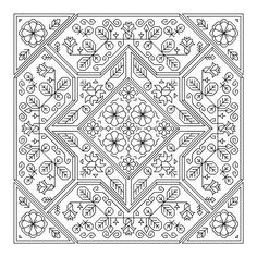 This page is full of gorgeous (and inexpensive) blackwork patterns! Daffodil by LyndsiHermsenMoulton