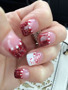 We have made a photo collection of Cute and Inspiring Christmas Nail Art Designs and we are sure that you will love them. Holiday Nail Art, Christmas Nail Art Designs, Christmas Nails, Christmas 2017, Cute Nails, Pretty Nails, Funky Nails, Les Nails, Seasonal Nails