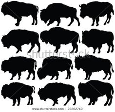Find American Bison Silhouette Collection Vector stock images in HD and millions of other royalty-free stock photos, illustrations and vectors in the Shutterstock collection. Thousands of new, high-quality pictures added every day. Animal Silhouette, Silhouette Art, Doodles Zentangles, Bison Tattoo, Buffalo S, Westerns, American Bison, Native American Design, Illustrations