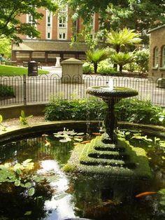 Postman's Park, London. (As seen in 'Closer.')