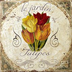 Le Jardin Tulipes Print by Mindy Sommers