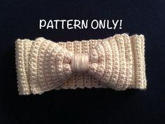Bow Headband/Earwarmers Crochet PATTERN ~ Crochet Addict UK Thursday's Handmade Love Week 83 ~ Theme: Earwarmers ~ includes links to patterns Crochet Hooks, Crochet Baby, Knit Crochet, Crochet Headbands, Free Crochet, Crochet Clothes, Basic Crochet Stitches, Crochet Basics, Crochet Patterns For Beginners