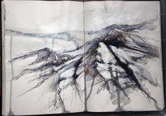 Ian Murphy Artist Landscape sketchbook drawing 2014