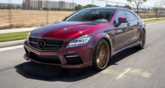 MISHA Designs Mercedes CLS Trying To Pull Off Burgundy & Bronze Combo