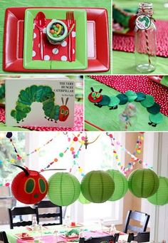 Hungry Caterpillar first birthday party - super cute DIY decor and activities for the kids // Pettingill Crew: {Miles' Very Hungry Caterpillar First Birthday Party}