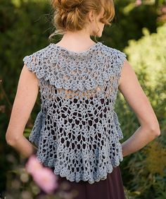Circular crochet shrug - note to self: learn to crochet!