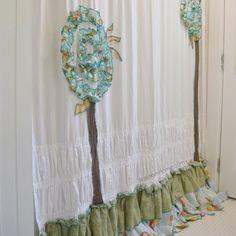 Shabby Chic Bathroom Shower Curtain