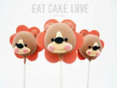 Cute Fisher Price Lion Cake Pops