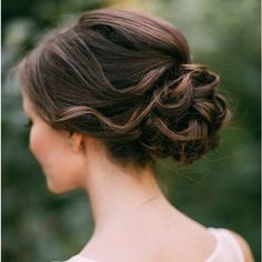 20 Low Updo Hair Styles for Brides ❤ liked on Polyvore featuring beauty products, haircare, hair styling tools, hair and hairstyles