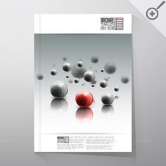 Science brochure template by VectorShop on Creative Market