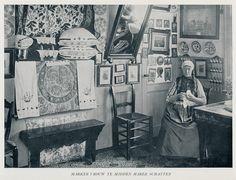 Marken, vrouw in haar interieur by janwillemsen, via Flickr #NoordHolland #Marken
