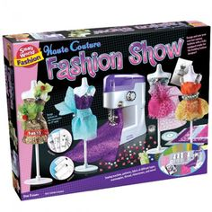 Haute Couture Fashion Show deluxe sewing kit will make a dream-come-true present for fashion and craft loving girls! Manufactured by Small World Toys.